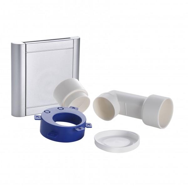 Nilfisk Saugdose DESIGN, Aluminium inkl. Einbau-Kit